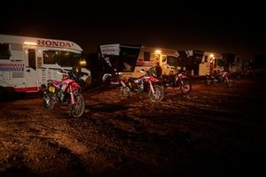 Monster Energy Honda Team team area by night