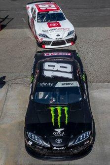 Riley Herbst, Joe Gibbs Racing, Toyota Supra Monster, Brandon Jones, Joe Gibbs Racing, Toyota Supra Toyota Service Centers