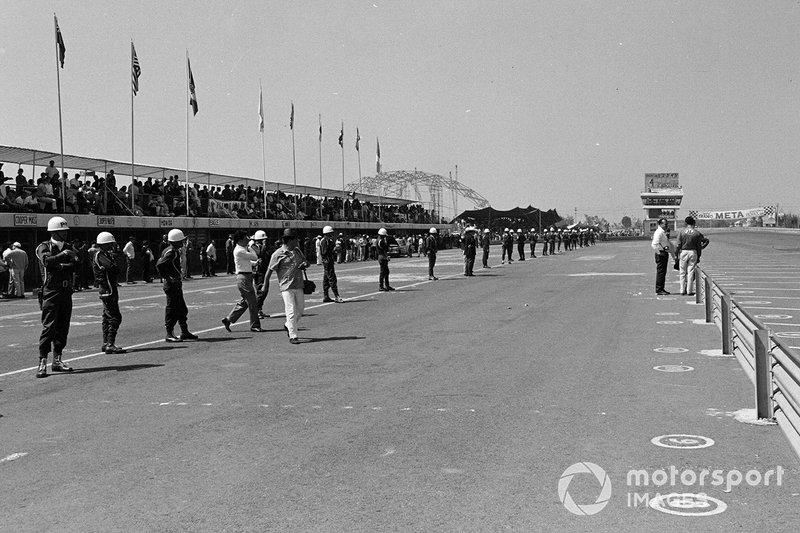Sicurezza Militare al GP del Messico del 1967