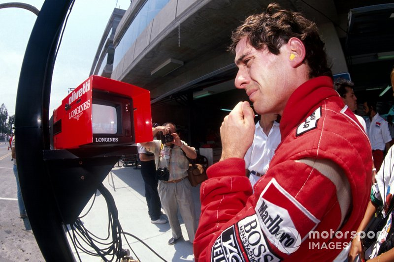 Ayrton Senna, McLaren, al GP del Messico del 1989