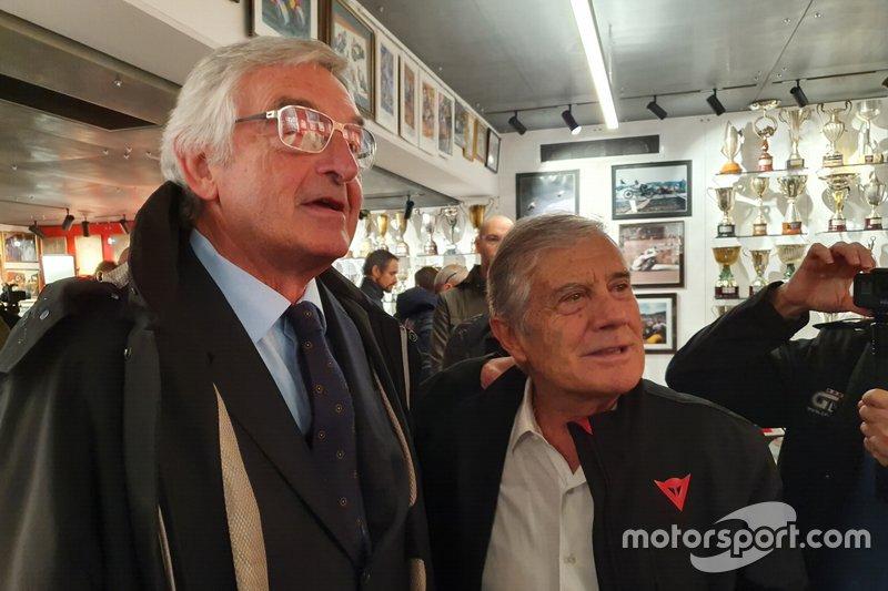 Lino Dainese y Giacomo Agostini