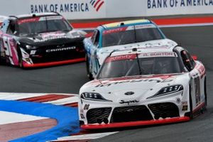 Harrison Burton, Joe Gibbs Racing, Toyota Supra DEX Imaging and Jeremy Clements, Jeremy Clements Racing, Chevrolet Camaro All South Electric