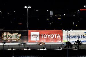 Ty Gibbs, Joe Gibbs Racing, Toyota Supra Monster Energy and Daniel Hemric, Joe Gibbs Racing, Toyota Supra Poppy Bank