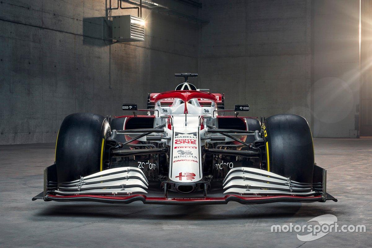 L'ala anteriore della Alfa Romeo Racing C41