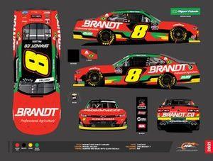 Layout de carro de Miguel Paludo na NASCAR Xfinity Series em 2021