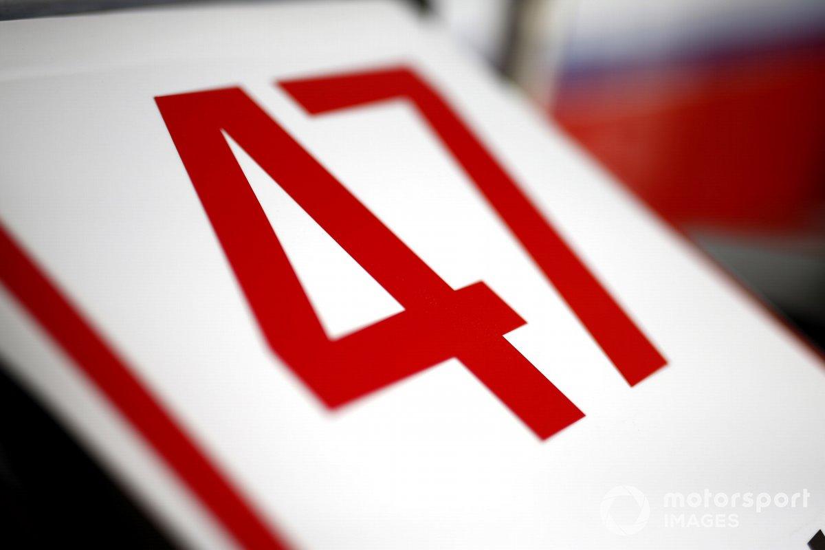 Numero di gara sulla vettura di Mick Schumacher, Haas F1