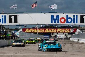 #30 Team Hardpoint Audi R8 LMS GT3, GTD: Rob Ferriol, Andrew Davis, Pierre Kaffer, #16 Wright Motorsports Porsche 911 GT3 R, GTD: Ryan Hardwick, Patrick Long, Jan Heylen