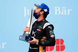 Race winner Jean-Eric Vergne, DS Techeetah on the podium