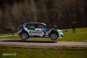 Wojtek Chuchała, Sebastian Rozwadowski, Skoda Fabia Rally2 evo