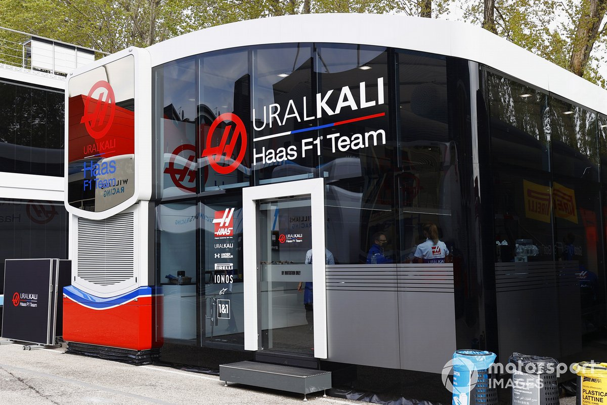 Motorhome de Haas F1