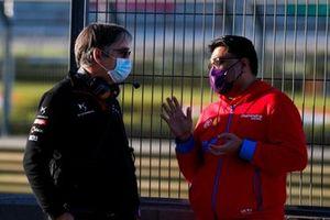 Mark Preston, Team Principal, DS Techeetah talks to Dilbagh Gill, CEO, Team Principal, Mahindra Racing