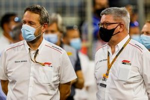 Steve Neilsen, FOM, et Ross Brawn, Directeur Motorsports, FOM