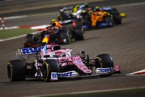 Sergio Perez, Racing Point RP20, Alex Albon, Red Bull Racing RB16