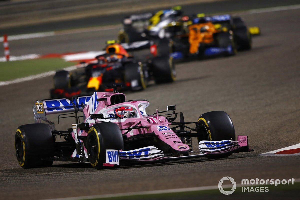 Sergio Pérez, Racing Point RP20, Alex Albon, Red Bull Racing RB16