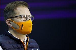 Andreas Seidl, director del equipo, McLaren, en la conferencia de prensa