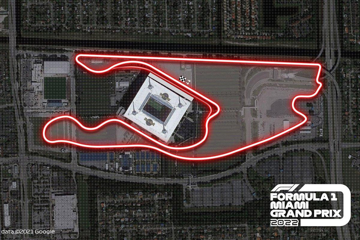 El circuito de Miami para la F1