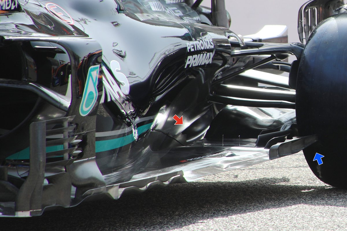 Mercedes F1 W12 floor detail