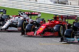 The car of Charles Leclerc, Ferrari SF21