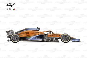 McLaren MCL35 vista laterale