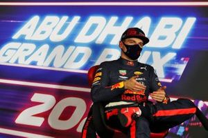 Pole man Max Verstappen, Red Bull Racing, in the post Qualifying Press Conference