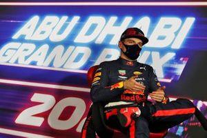 Il Poleman Max Verstappen, Red Bull Racing, nella conferenza stampa dopo le Qualifiche