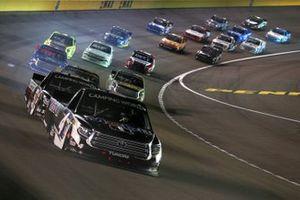 John Hunter Nemechek, Kyle Busch Motorsports, Toyota Tundra leads the field