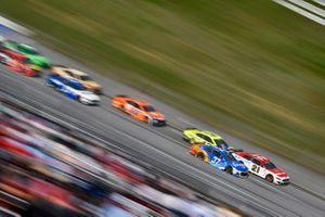 Ryan Preece, JTG Daugherty Racing, Chevrolet Camaro Kroger/Reese's and Matt DiBenedetto, Wood Brothers Racing, Ford Mustang Motorcraft Quick Lane