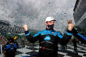 #10 Wayne Taylor Racing Acura ARX-05 Acura DPi: Filipe Albuquerque celebrating the victory