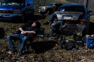 Acre Woods volunteers sleep between stages