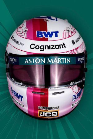 Casque de Sebastian Vettel, Aston Martin