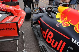 Red Bull Racing and Ferrari technical detail