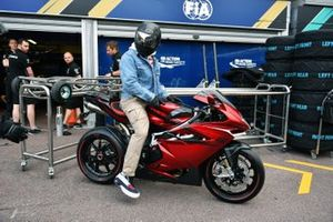Lewis Hamilton, Mercedes AMG F1 on his motorbike