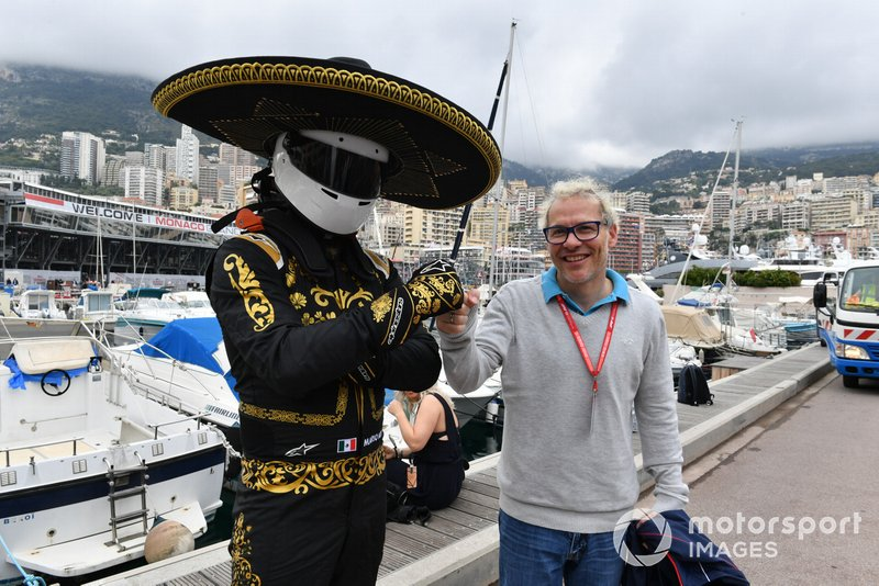 Mario Achi, Mexican GP Promoter and Jacques Villeneuve, F1 World Champion 1997