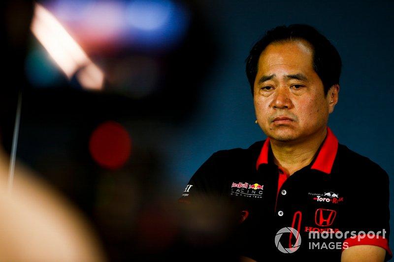 Toyoharu Tanabe, Direttore tecnico F1, Honda, durante la conferenza stampa dei team principal