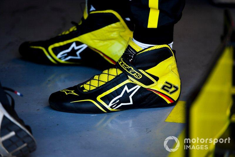 The boots of Nico Hulkenberg, Renault F1 Team