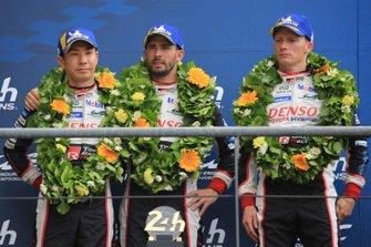 Deuxième place : #7 Toyota Gazoo Racing Toyota TS050: Mike Conway, Kamui Kobayashi, Jose Maria Lopez