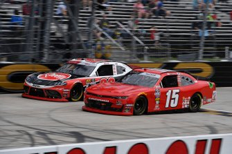 B.J. McLeod, JD Motorsports, Chevrolet Camaro teamjdmotorsports.com and Christopher Bell, Joe Gibbs Racing, Toyota Supra Rheem