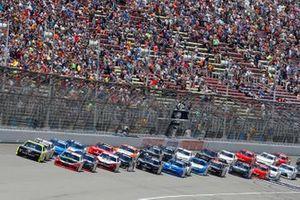Paul Menard, Team Penske, Ford Mustang Menards/Richmond and Christopher Bell, Joe Gibbs Racing, Toyota Supra Rheem / RTP