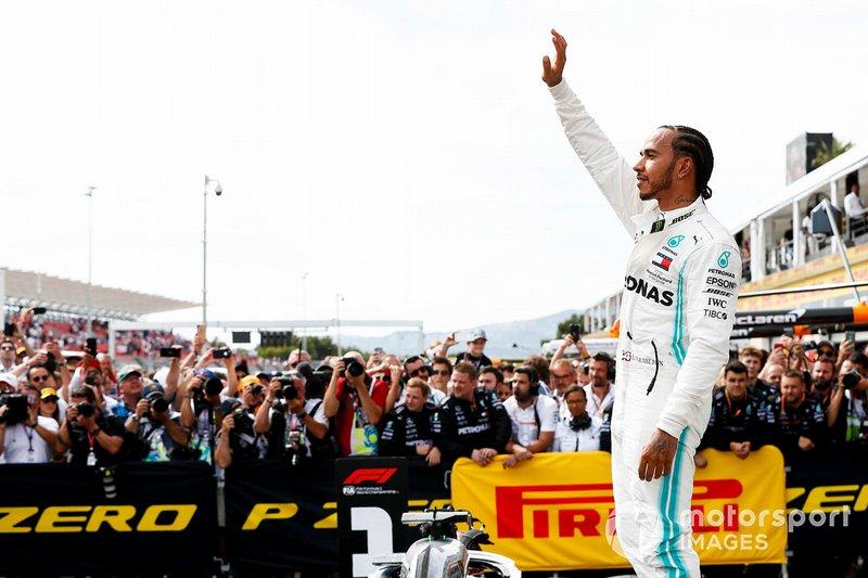 Lewis Hamilton, Mercedes AMG F1, celebra su victoria en Francia