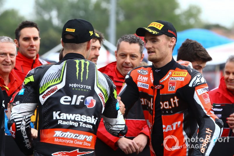 Jonathan Rea, Kawasaki Racing Team, Chaz Davies, Aruba.it Racing-Ducati Team, World SBK