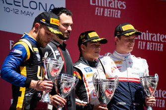 Podium: race winner Nyck De Vries, ART Grand Prix , second place Luca Ghiotto, Uni Virtuosi Racing, third place Callum Ilott, Sauber Junior Team By Charouz