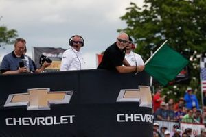 Scott Dixon, Chip Ganassi Racing Honda mène au restart