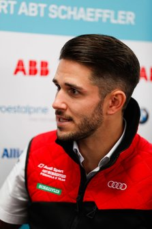Daniel Abt, Audi Sport ABT Schaeffler, talks to the press
