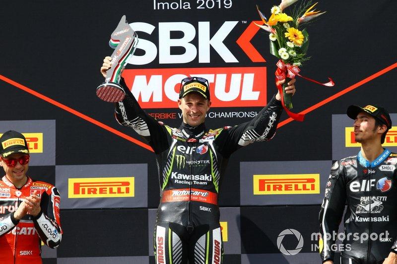 Podio: Ganador de la carrera Jonathan Rea, Kawasaki Racing Team