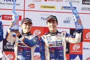 GT500 podium: third place #19 Team WedsSport Bandoh Lexus LC500: Yuji Kunimoto, Sho Tsuboi