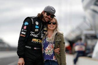 JR Hildebrand, Dreyer & Reinbold Racing Chevrolet avec sa femme Kristin