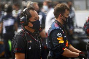 Toyoharu Tanabe, Direttore Tecnico F1, Honda, in griglia