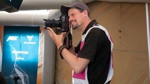 Sam Bloxham, coordinatore di Motorsport Images, nell'Ocean X-Prix