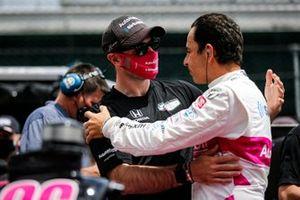 Helio Castroneves, Meyer Shank Racing Honda y Jack Harvey, Meyer Shank Racing Honda