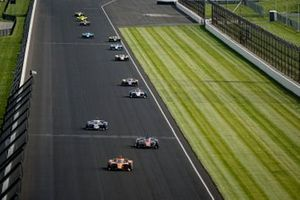 Felix Rosenqvist, Arrow McLaren SP Chevrolet, Ed Carpenter, Ed Carpenter Racing Chevrolet, Graham Rahal, Rahal Letterman Lanigan Racing Honda